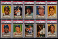 Baseball Cards:Lots, 1952 Topps Baseball Low-Number PSA EX 5 Graded Collection (10)....