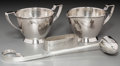 Silver Holloware, American:Other , A Randahl Shop Silver Creamer and Sugar with Napkin Ring and CandleSnuffer, Chicago, Illinois, mid-20th century. Marks: (JO... (Total:4 Items)