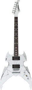 Musical Instruments:Electric Guitars, 2005 Silvertone Paul Stanley Chrome Solid Body Electric Guitar,Serial # 5051010480....