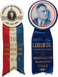 Political:Inaugural (1789-present), Franklin D. Roosevelt: Pair of 1941 Inauguration Ribbon Badges....