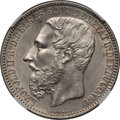 Belgian Congo, Belgian Congo: Congo Free State - Leopold II 5 Francs 1887 UNCDetails (Surface Hairlines) NGC,...