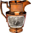 Political:3D & Other Display (pre-1896), Andrew Jackson: Minty Example of a Copper Luster Pitcher....