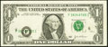 Error Notes:Shifted Third Printing, Shifted Black Portion of Third Printing Error Fr. 1929-F $1 2003 Federal Reserve Note. Very Fine.. ...