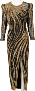 Music Memorabilia:Costumes, A Connie Francis Evening Gown Worn Onstage at Bally's Grand Casinoin Atlantic City, 1990s....