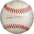 Baseball Collectibles:Balls, 1970's Old Timers' Day Multi-Signed Baseball. ...