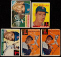 Baseball Cards:Lots, 1954-58 Topps Ted Williams Collection (5)....