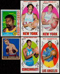 Basketball Cards:Lots, 1948-74 Basketball/Boxing Card Collection (6)....