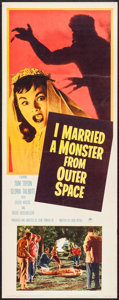 "Movie Posters:Science Fiction, I Married a Monster from Outer Space & Other Lot (Paramount,1958). Insert (14"" X 36"") & Title Lobby Card (11"" X 14"").Scien... (Total: 2 Items)"