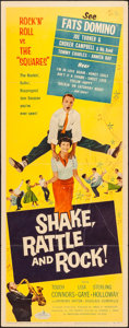 """Movie Posters:Rock and Roll, Shake, Rattle and Rock (American International, 1956). Insert (14"""" X 36""""). Rock and Roll.. ..."""