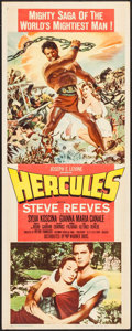 """Movie Posters:Action, Hercules (Warner Brothers, 1959). Insert (14"""" X 36""""). Action.. ..."""