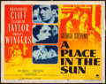 "Movie Posters:Drama, A Place in the Sun (Paramount, 1951). Half Sheet (22"" X 28"").Drama.. ..."
