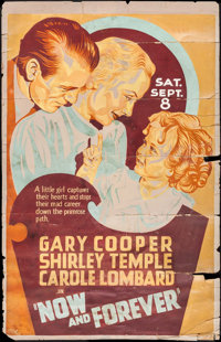"Now and Forever (Paramount, 1934). Silk Screened Poster (37"" X 58""). Drama"