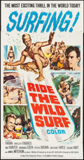 "Movie Posters:Sports, Ride the Wild Surf (Columbia, 1964). Three Sheet (41"" X 79""). Sports.. ..."