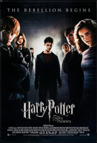 """Harry Potter and the Order of the Phoenix (Warner Brothers, 2007). One Sheet (27"""" X 40"""") DS Advance. Fantasy..."""