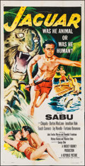 "Movie Posters:Adventure, Jaguar (Republic, 1955). Three Sheet (41"" X 80""). Adventure.. ..."