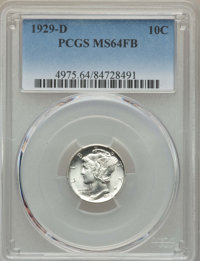 1929-D 10C MS64 Full Bands PCGS. PCGS Population: (623/678). NGC Census: (316/330). CDN: $65 Whsle. Bid for NGC/PCGS MS6...