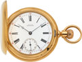 Timepieces:Pocket (pre 1900) , Waltham 18k Gold Model 72 Riverside Hunter's Case, circa 1886. ...