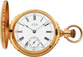 Timepieces:Pocket (pre 1900) , Waltham 18k Gold Box Hinge Model 72, circa 1884. ...