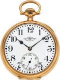 Timepieces:Pocket (post 1900), Ball, Hamilton 14k Gold 23 Jewel Official Standard, circa 1915. ...