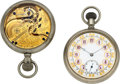 Timepieces:Pocket (pre 1900) , Elgin, Two Rare Prototype Watches, Model 1 & Model 3, circa1875. ... (Total: 2 Items)