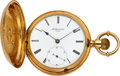 Timepieces:Pocket (pre 1900) , M.S. Smith & Co. Detroit Mich. Rare 18k Gold Hunters Case Watch No. 79 Attributed To Charles L. Hoyt, circa 1870's. ...