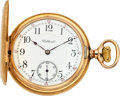 Timepieces:Pocket (post 1900), Waltham Gold 23 Jewel Bridge Model Prototype For Howard, circa1910. ...