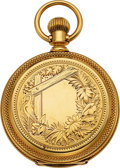 Timepieces:Pocket (post 1900), Elgin 18k Gold Hunters Cased Model 2 Convertible, circa 1880. ...