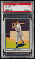 Baseball Cards:Singles (1940-1949), 1941 Play Ball Mel Ott #8 PSA VG 3....