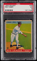 Baseball Cards:Singles (1930-1939), 1933 Goudey Red Faber #79 PSA EX 5....