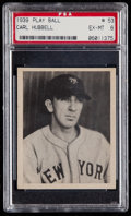 Baseball Cards:Singles (1930-1939), 1939 Play Ball Carl Hubbell #53 PSA EX-MT 6....