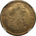 Colombia, Colombia: Ferdinand VII gold 8 Escudos 1819 NR-JF XF45 NGC,...