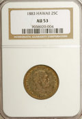 Coins of Hawaii: , 1883 25C Hawaii Quarter AU53 NGC. NGC Census: (7/593). PCGSPopulation (16/971). Mintage: 500,000. (#10987)...