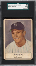 Baseball Cards:Singles (1950-1959), 1953 Stahl-Meyer Franks Mickey Mantle SGC 30 Good 2. ...