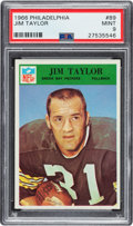 Football Cards:Singles (1960-1969), 1966 Philadelphia Jim Taylor #89 PSA Mint 9 - Pop Four, None Higher....