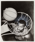 Basketball Collectibles:Photos, 1959 Wilt Chamberlain Original News Photograph, PSA/DNA Type 1....