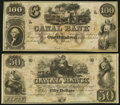 Obsoletes By State:Louisiana, New Orleans, LA - New Orleans Canal & Banking Co. $50 18__; $100 18__ Remainders. ... (Total: 2 notes)