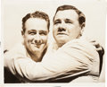 "Baseball Collectibles:Photos, 1939 Babe Ruth Embraces Lou Gehrig After ""Luckiest Man"" SpeechOriginal Wire Photograph, PSA/DNA Type 3. ..."