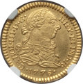 Colombia, Colombia: Charles III gold Escudo 1778 P-SF MS61 NGC,...