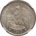 Chile, Chile: Republic Peso 1877-So MS64 NGC,...