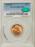 Lincoln Cents: , 1944-D 1C MS67 Red PCGS. CAC. PCGS Population: (318/2). NGC Census: (991/0). CDN: $80 Whsle. Bid for problem-free NGC/PCGS ...