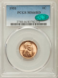Lincoln Cents: , 1951 1C MS66 Red PCGS. CAC. PCGS Population: (578/30). NGC Census: (768/31). CDN: $60 Whsle. Bid for problem-free NGC/PCGS ...