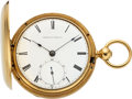 Timepieces:Pocket (pre 1900) , Waltham Model 57 P.S. Bartlett 18k Gold Baldwin & Co. PatentedReversible Case, circa 1863. ...