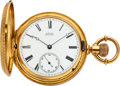 Timepieces:Pocket (pre 1900) , Waltham Heavy 18k Gold Model 72 Amn. Grade, circa 1877. ...