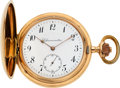 Timepieces:Pocket (pre 1900) , Swiss Fine 14k Gold Cased Detent Chronometer, circa 1895. ...
