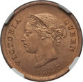 Cyprus:British Colony, Cyprus: British Colony. Victoria 1/4 Piastre 1887 MS63 Red and Brown NGC,...