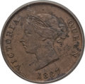 Cyprus:British Colony, Cyprus: British Colony. Victoria 1/2 Piastre 1887 MS63 Brown PCGS,...