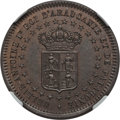 Argentina, Argentina: Patagonia. New France bronze Essai 2 Centavos 1874 MS63Brown NGC,...