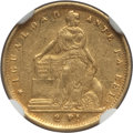 Chile, Chile: Republic gold 2 Pesos 1857-So AU55 NGC,...