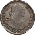 Chile, Chile: Charles IV 4 Reales 1807 So-FJ XF45 NGC,...