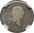 Chile, Chile: Charles IV 1/4 Real 1791/0-So F15 NGC,...